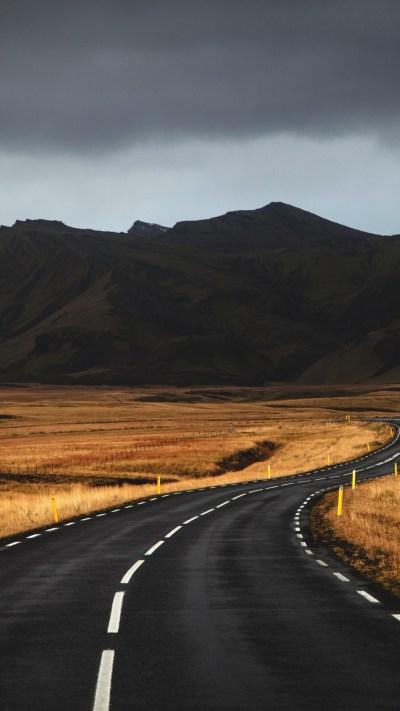 Wallpaper Iceland, 4k, 5k wallpaper, road, mountains, clouds, OS #6289