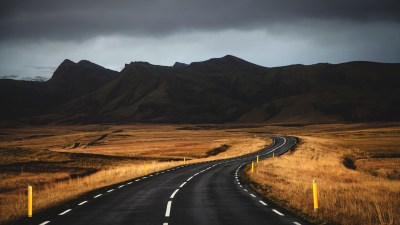 Wallpaper Iceland, 4k, 5k wallpaper, road, mountains, clouds, OS #6289