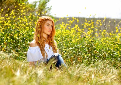 Wallpaper Katherine Mcnamara, photo, flowers, grass, 5k, Celebrities #16510
