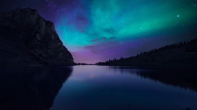 Wallpaper Lake Aurora, 4k, HD wallpaper, Florida, night, sky, stars, OS #12771