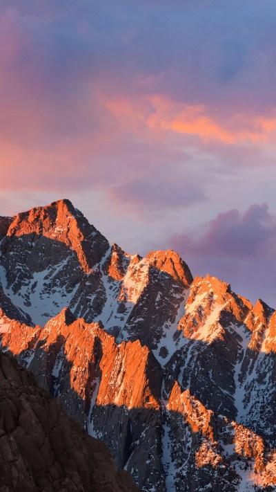 Wallpaper mountains, macos, 4k, 5k, sierra, sky, android wallpaper, OS #11473