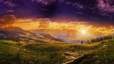 Wallpaper Switzerland, 5k, 4k wallpaper, 8k, HD, Mountains, sunset, hills, meadows, Nature #5303