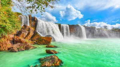 Wallpaper waterfall, 4k, HD wallpaper, Beautiful Dry Nur, Vietnam, Nature #10377