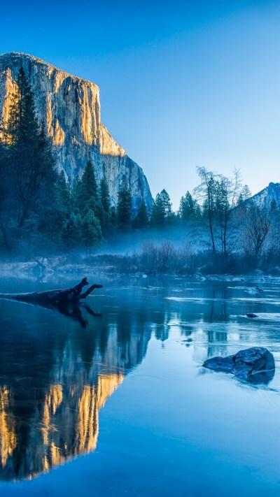 Wallpaper Yosemite, El Capitan, HD, 4k wallpaper, winter, forest, OSX, apple, mountains, Nature ...