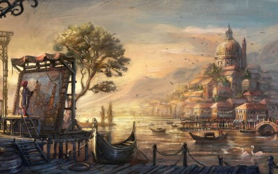 Pretty Venice People Painting wallpapers | Pretty Venice People Painting stock photos