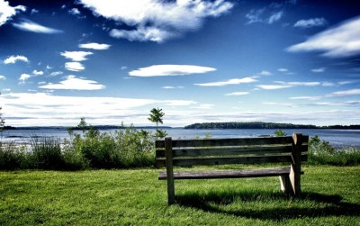 Chill Out Bench Grass & Ocean wallpapers | Chill Out Bench Grass & Ocean stock photos