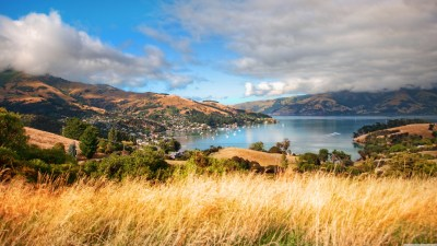 Akaroa, New Zealand 4K HD Desktop Wallpaper for 4K Ultra HD TV • Wide & Ultra Widescreen ...
