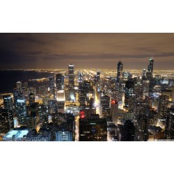 Small Crop Of Chicago Skyline Wallpaper