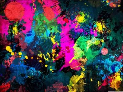 Colorful Paint Splatter 4K HD Desktop Wallpaper for 4K Ultra HD TV • Dual Monitor Desktops ...