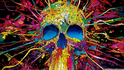Colorful Skull 4K HD Desktop Wallpaper for 4K Ultra HD TV • Tablet • Smartphone • Mobile Devices