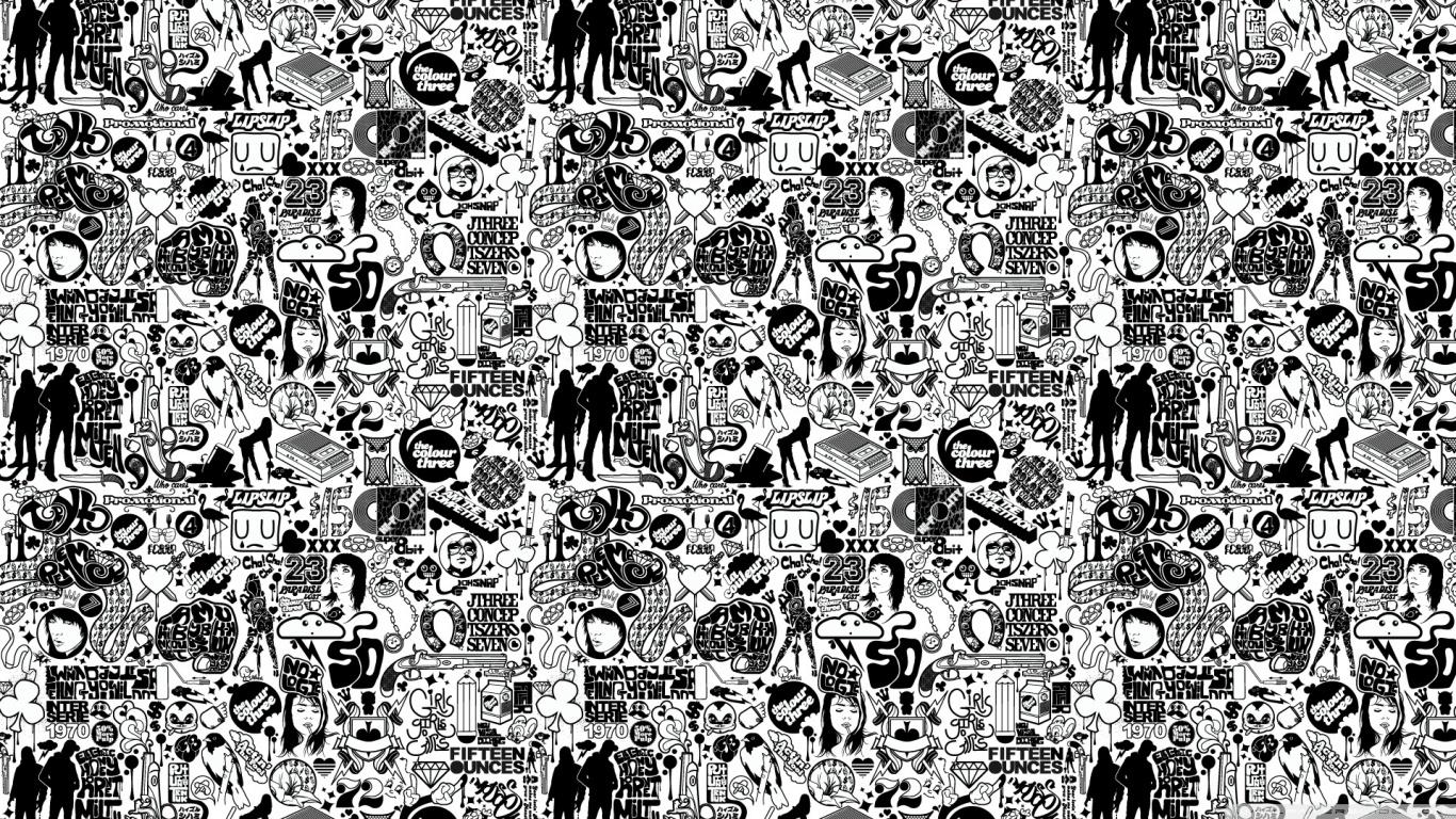 Fullsize Of Black And White Wallpaper