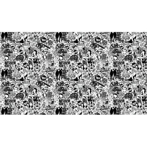 Medium Crop Of Black And White Wallpaper