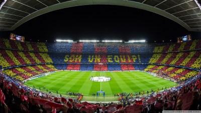 FC Barcelona Camp Nou Stadium 4K HD Desktop Wallpaper for 4K Ultra HD TV • Wide & Ultra ...
