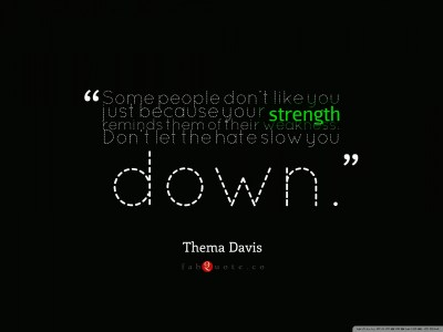 Thema Davis - Quote about Strength and Weakness 4K HD Desktop Wallpaper for 4K Ultra HD TV ...