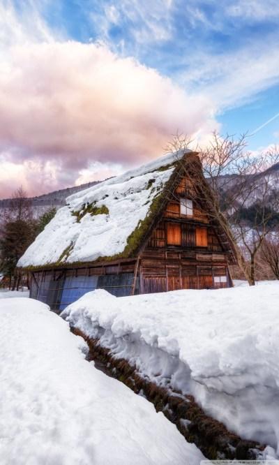 Village in Japan during Winter 4K HD Desktop Wallpaper for 4K Ultra HD TV • Wide & Ultra ...