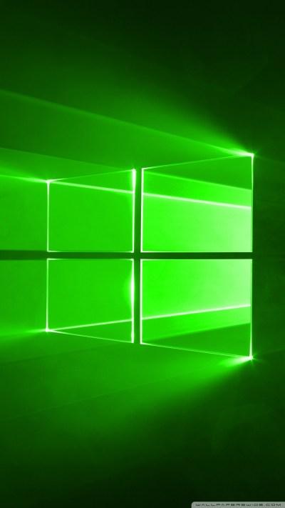 Windows 10 Green 4K HD Desktop Wallpaper for • Wide ...
