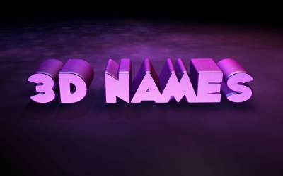3D Name Wallpaper ·①