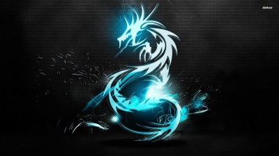 Cool Blue Dragon Wallpaper ·①