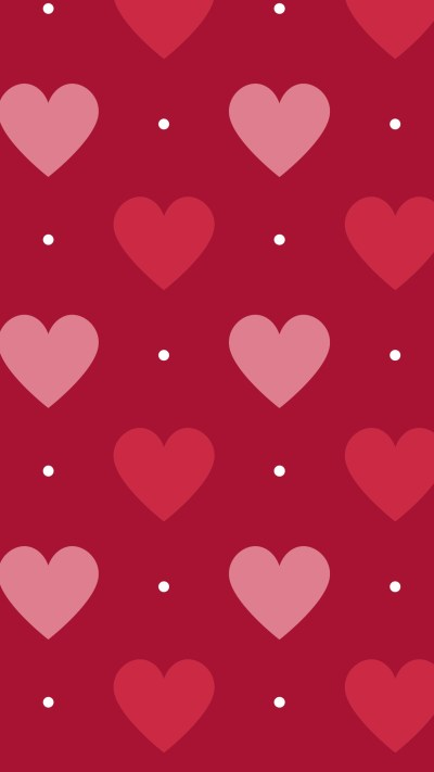 Red Hearts Background ·①