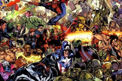 Marvel vs DC Wallpaper ·①