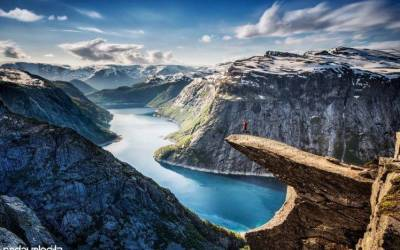 nature, Landscape, Mountain, Jumping, Norway Wallpapers HD / Desktop and Mobile Backgrounds