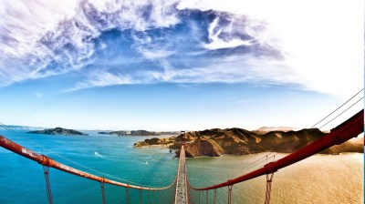 nature, Landscape, Water, Bridge, Hill, Trees, Architecture, Car, Clouds, Golden Gate Bridge ...