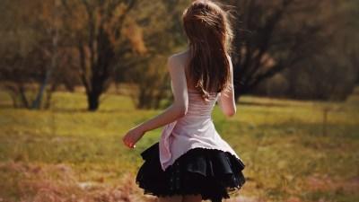 skirt, Nature, Brunette, Behind Wallpapers HD / Desktop and Mobile Backgrounds
