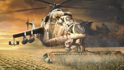 artwork, Helicopters, Humor, Mil Mi 24 Wallpapers HD / Desktop and Mobile Backgrounds