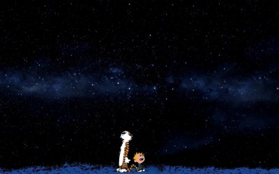 space, Stars, Blue, Comics, Calvin And Hobbes Wallpapers HD / Desktop and Mobile Backgrounds