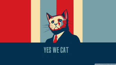 cat, Barack Obama, Humor, Hope Posters Wallpapers HD / Desktop and Mobile Backgrounds