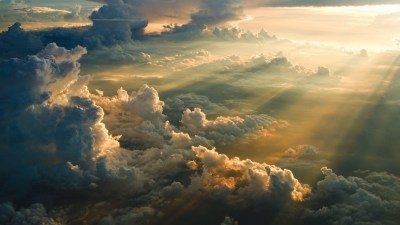 nature, Sky, Clouds, Sun Rays, Aerial View Wallpapers HD / Desktop and Mobile Backgrounds