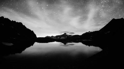 photography, Monochrome, Water, Night, Lake, Reflection, Landscape Wallpapers HD / Desktop and ...