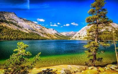 nature, Landscape, Lake, Mountains, Forest, Summer, Trees, Blue, Sky, Yosemite National Park ...