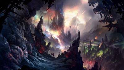 fantasy Art, Illustration, Colorful, Painting, Cave Wallpapers HD / Desktop and Mobile Backgrounds