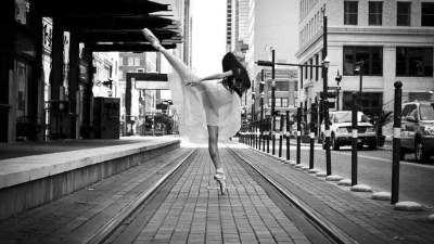 ballerina, Legs, Spread Legs, Looking Up, Ballet, City Wallpapers HD / Desktop and Mobile ...