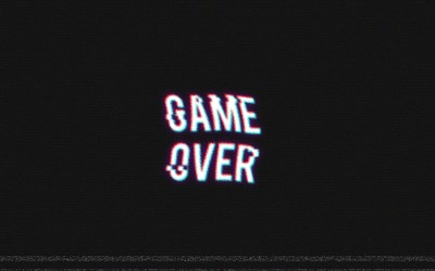 GAME OVER, Video Games, Retro Games, Distortion Wallpapers HD / Desktop and Mobile Backgrounds