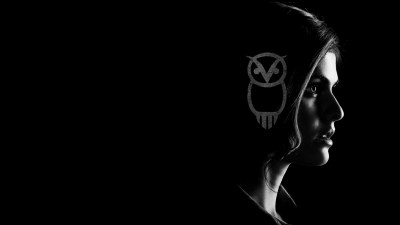 women, Simple, Dark, Black Background, Monochrome, Owl, Alexandra Daddario, Percy Jackson ...
