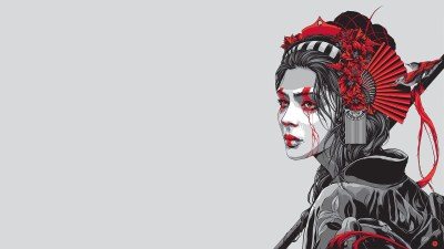 geisha, Artwork Wallpapers HD / Desktop and Mobile Backgrounds