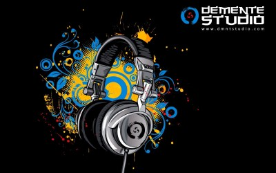 headphones, Digital art, Music, Simple background Wallpapers HD / Desktop and Mobile Backgrounds