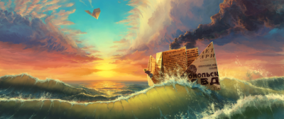 ultra wide, Fantasy art, Waves Wallpapers HD / Desktop and Mobile Backgrounds