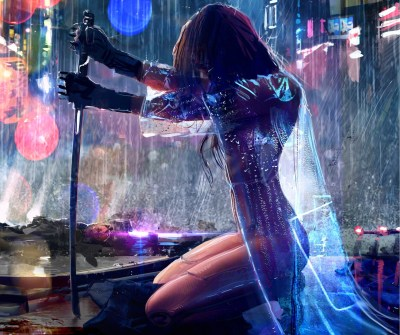 women, Warrior, Artwork, Sword, Rain, Cyberpunk, Cyberpunk 2077 Wallpapers HD / Desktop and ...