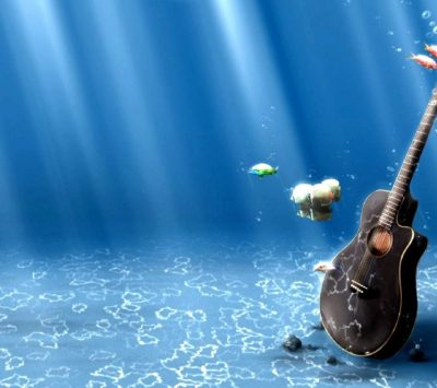 guitar, Underwater Wallpapers HD / Desktop and Mobile Backgrounds