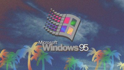 Microsoft Windows, Vaporwave, Palm trees, Windows 95 Wallpapers HD / Desktop and Mobile Backgrounds