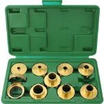 Discount:  Woodtek 164258, Portable Power Tool Accessories, Routers & Trimmers, 10-Pcs Router Template Guide Bushing Set