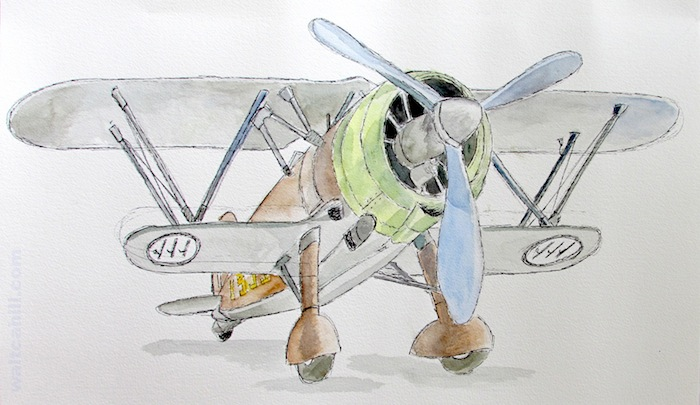 Fiat CR.42 Falco. 'Falcon': RAF Museum Hendon