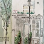 Geales Restaurant, Chelsea Green. Painted while taking part in the Pintar Rapido, London event.