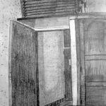 Hotel room doorway. July 1987