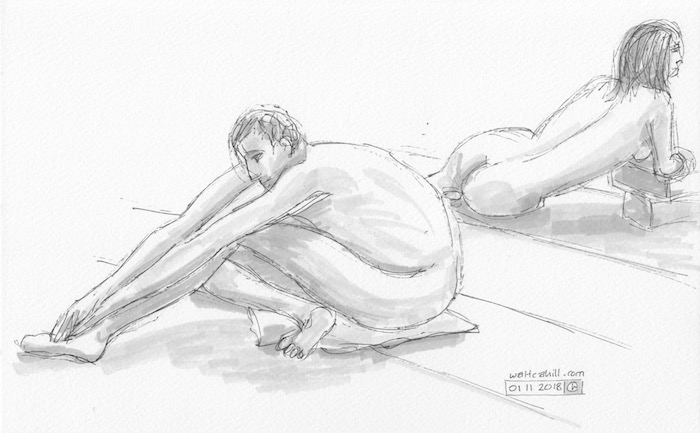 Covent Garden Life Drawing #216
