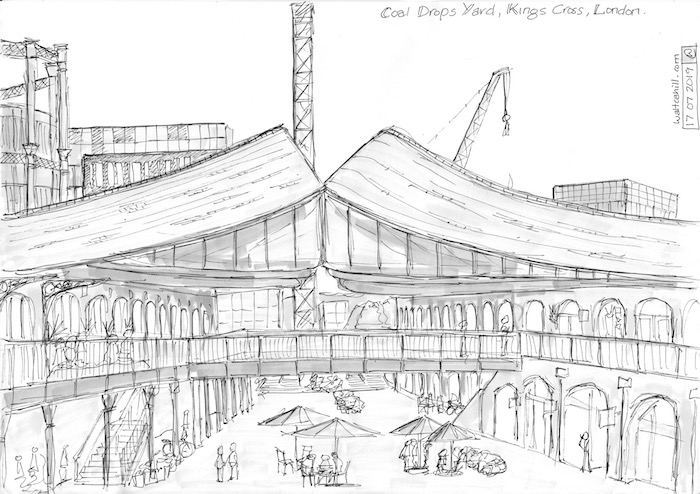The Coal Drops Yard, Kings Cross, London.