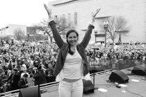 Ashley Judd onstage after speaking at the  Women's March on Washington on Jan. 21.